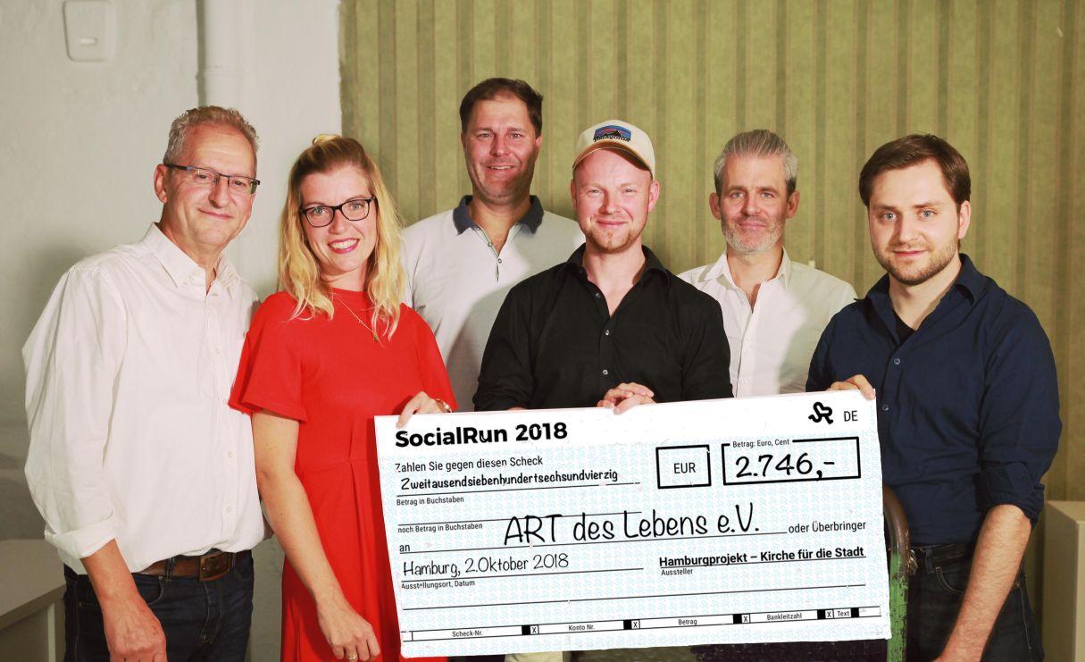 Große Spende durch SocialRun 2018